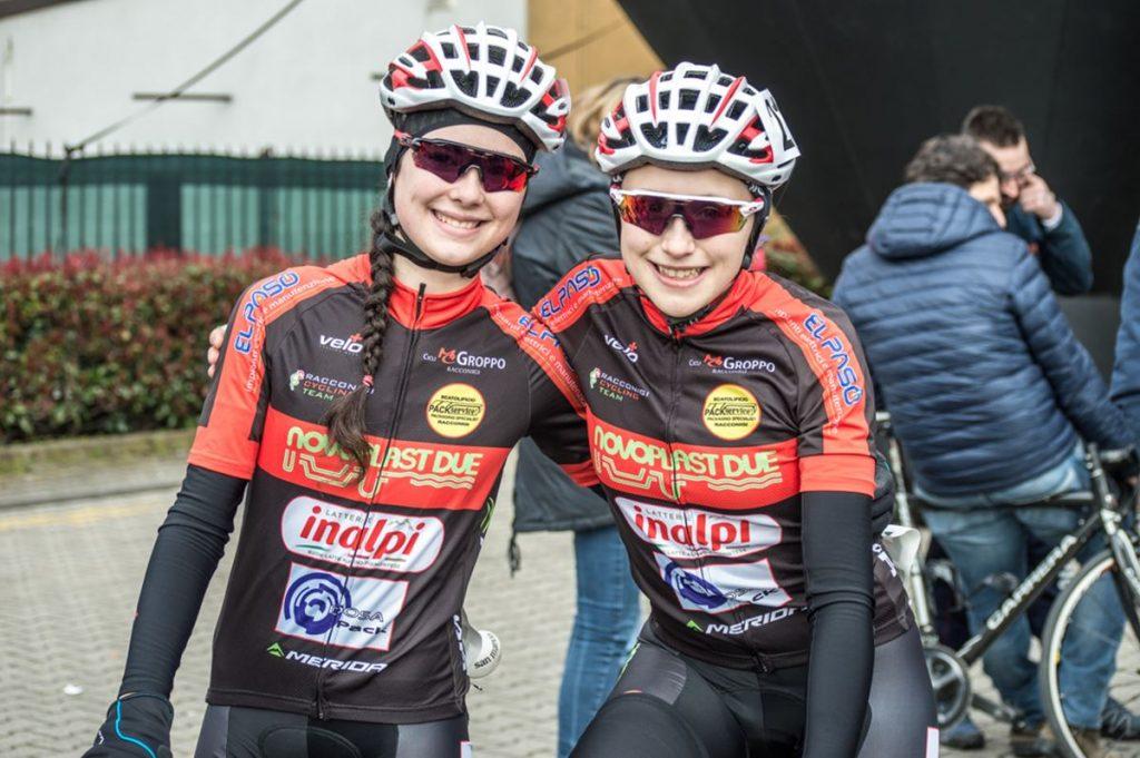 Francesca Colombo e Beatrice Caudera prima della gara di Macherio (foto Nespoli)