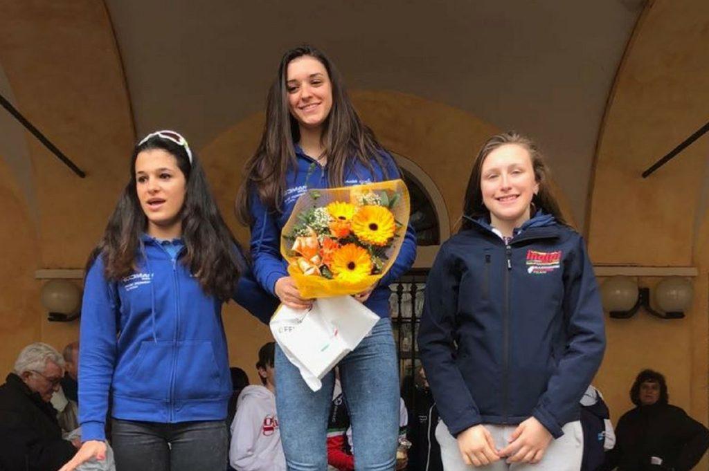 Beatrice Caudera sul podio a Piasco