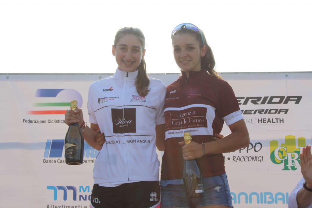 Giulia Raimondi ed Eleonora Gasparrini leader della classifica generale della Tre Giorni in Rosa dopo la prova di Fossano