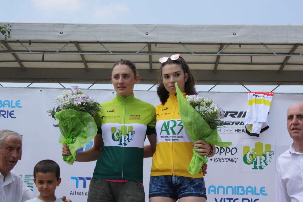 Letizia Borghesi e Giorgia Catarzi leader della classifica generale della Tre Giorni in Rosa dopo la prova di Fossano