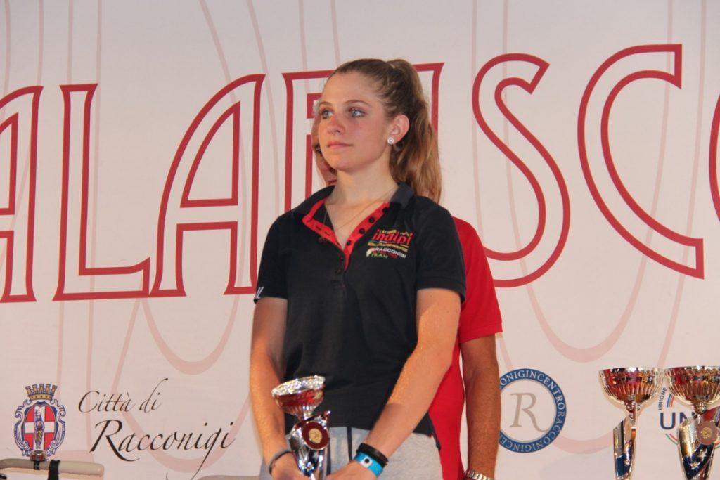 Matilde Vitillo sul podio di Racconigi dopo il quinto posto tra le Juniores